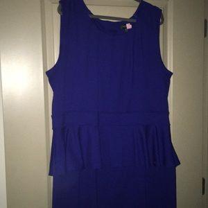 Dresses & Skirts - Cobalt blue peplum dress